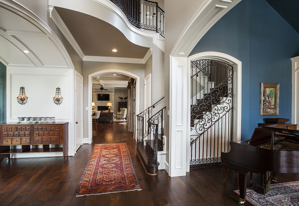 Luxury Home Foyers Gallery : Custom home foyers design by jeff paul homes